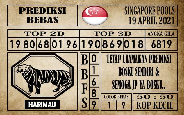 Prediksi Singapore Pools Hari ini 19 April 2021