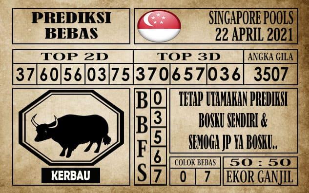 Prediksi Singapore Pools Hari ini 22 April 2021