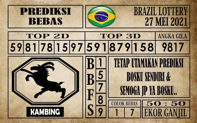 Prediksi Brazil Lottery Hari Ini 27 Mei 2021