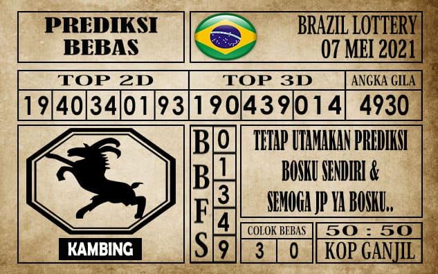Prediksi Brazil Lottery Hari Ini 07 Mei 2021