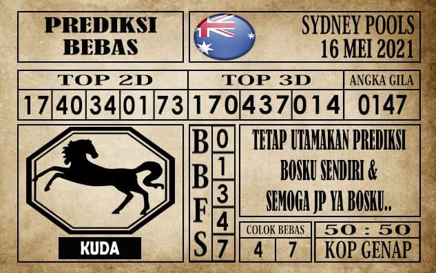 Prediksi Sydney Pools Hari ini 16 Mei 2021