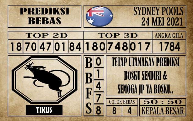 Prediksi Sydney Pools Hari ini 24 Mei 2021