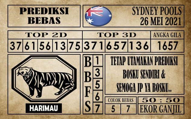 Prediksi Sydney Pools Hari ini 26 Mei 2021