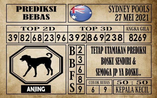 Prediksi Sydney Pools Hari ini 27 Mei 2021
