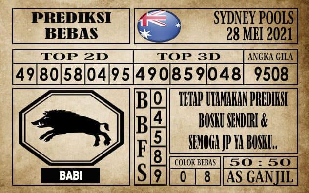 Prediksi Sydney Pools Hari ini 28 Mei 2021