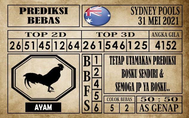 Prediksi Sydney Pools Hari ini 31 Mei 2021