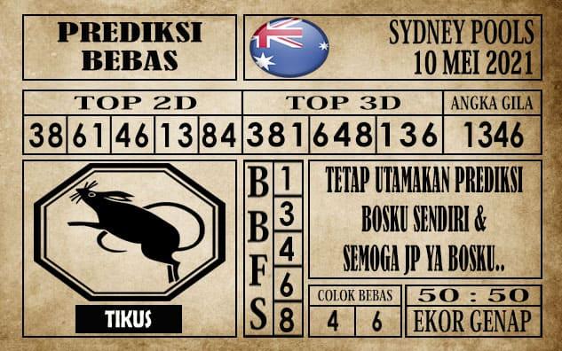 Prediksi Sydney Pools Hari ini 10 Mei 2021