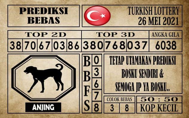 Prediksi Turkish Lottery Hari ini 26 Mei 2021