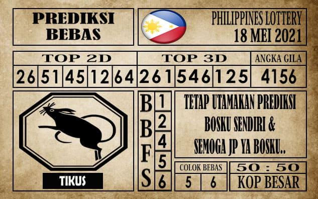 Prediksi Filipina PCSO Hari Ini 18 Mei 2021
