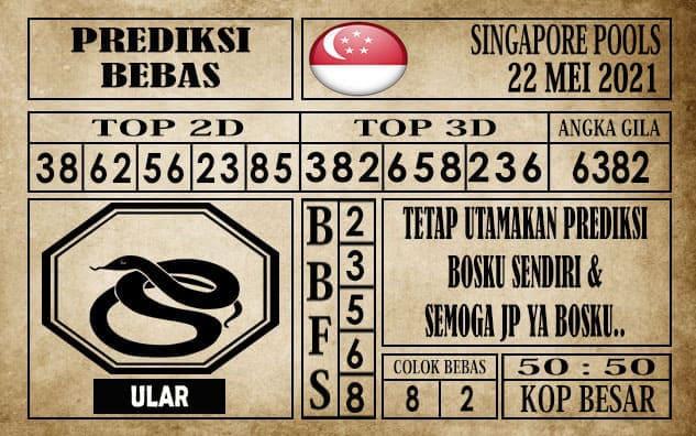 Prediksi Singapore Pools Hari ini 22 Mei 2021