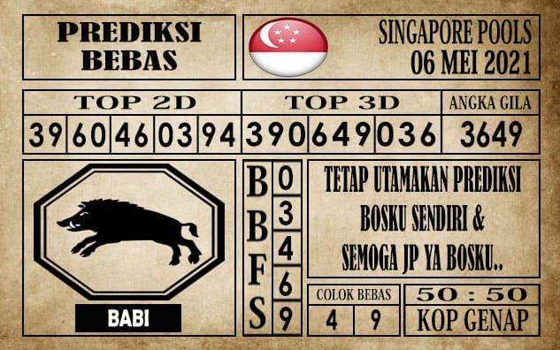 Prediksi Singapore Pools Hari ini 06 Mei 2021