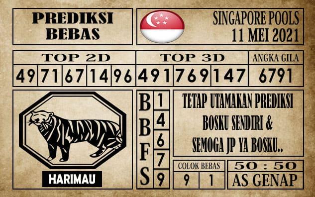 Prediksi Singapore Pools Hari ini 11 Mei 2021