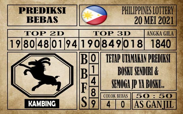 Prediksi Filipina PCSO Hari Ini 20 Mei 2021