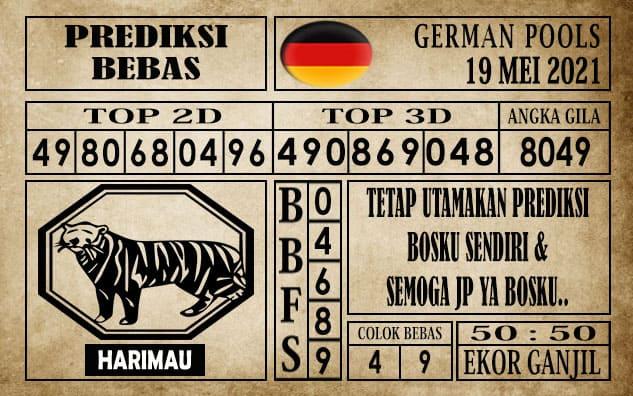 Prediksi Germany Hari Ini 19 Mei 2021