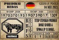 Prediksi Germany Hari Ini 04 Mei 2021