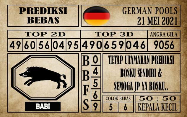 Prediksi Germany Hari Ini 21 Mei 2021