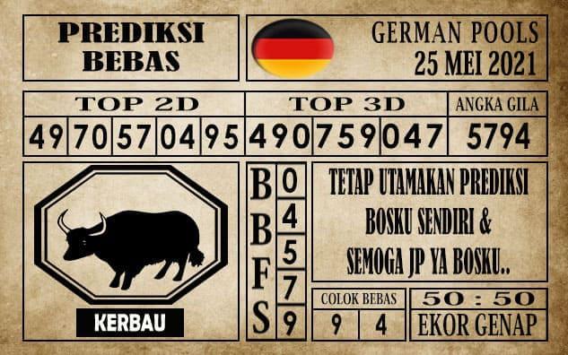 Prediksi Germany Hari Ini 25 Mei 2021