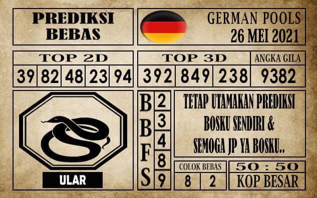 Prediksi Germany Hari Ini 26 Mei 2021