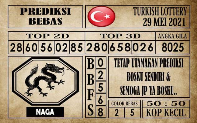 Prediksi Turkish Lottery Hari ini 29 Mei 2021