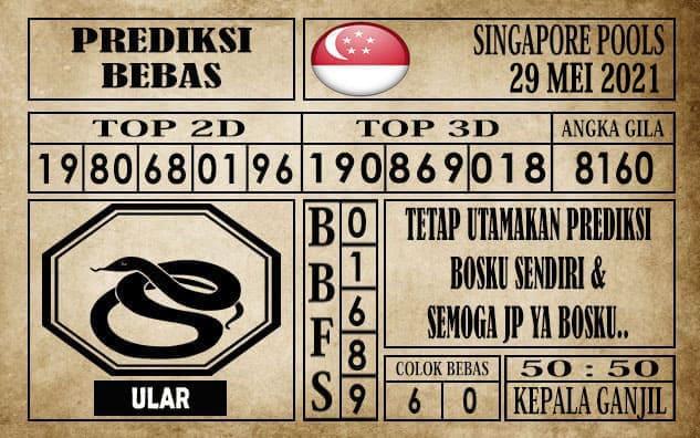 Prediksi Singapore Pools Hari ini 29 Mei 2021