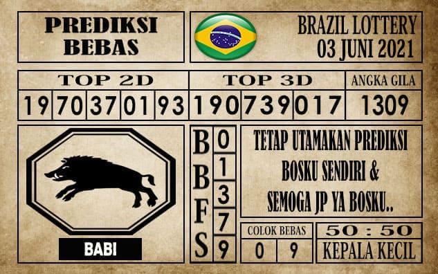 Prediksi Brazil Lottery Hari Ini 03 Juni 2021