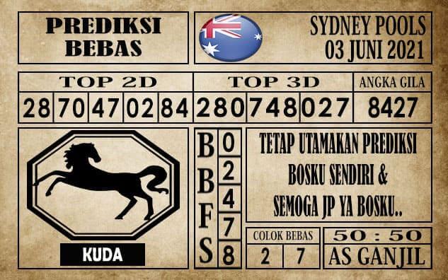 Prediksi Sydney Pools Hari ini 03 Juni 2021