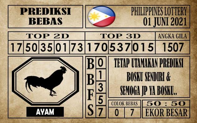 Prediksi Filipina PCSO Hari Ini 01 Juni 2021