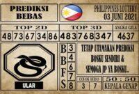 Prediksi Filipina PCSO Hari Ini 03 Juni 2021