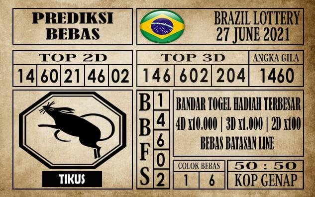 Prediksi Brazil Lottery Hari Ini 27 Juni 2021