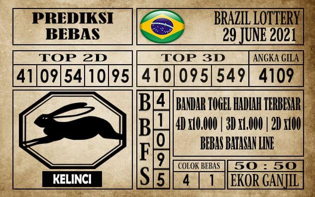 Prediksi Brazil Lottery Hari Ini 29 Juni 2021