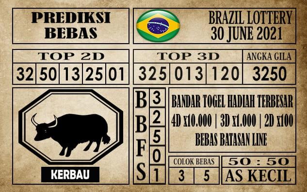 Prediksi Brazil Lottery Hari Ini 30 Juni 2021