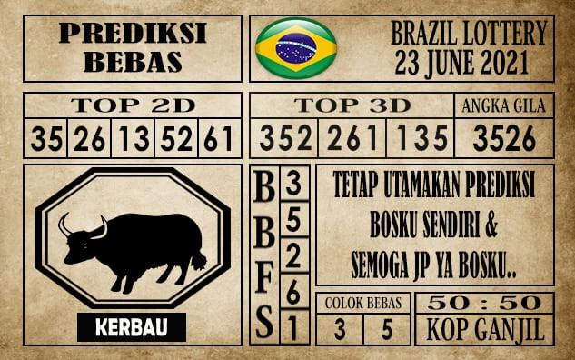 Prediksi Brazil Lottery Hari Ini 23 Juni 2021