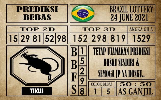 Prediksi Brazil Lottery Hari Ini 24 Juni 2021