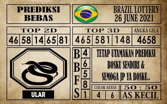 Prediksi Brazil Lottery Hari Ini 26 Juni 2021