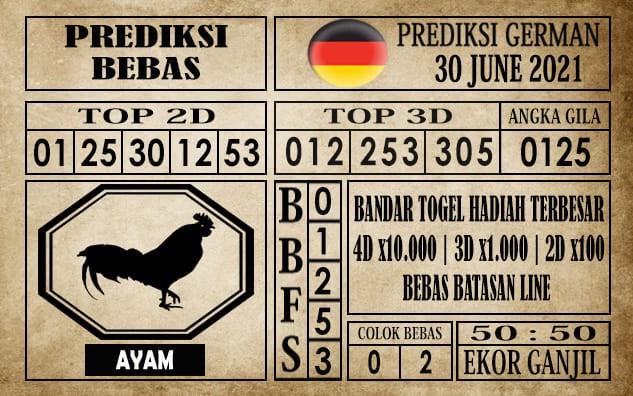 Prediksi Germany Hari Ini 30 Juni 2021