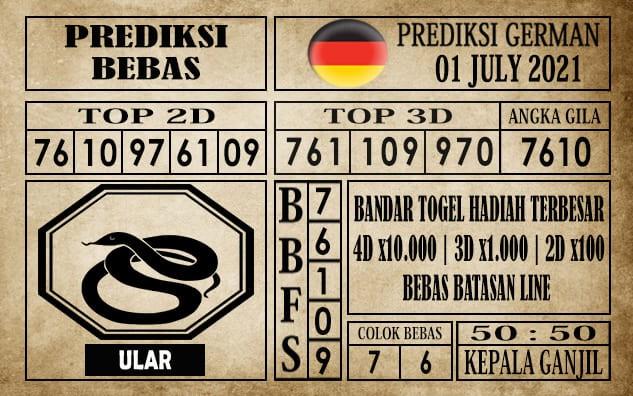 Prediksi Germany Hari Ini 01 Juli 2021