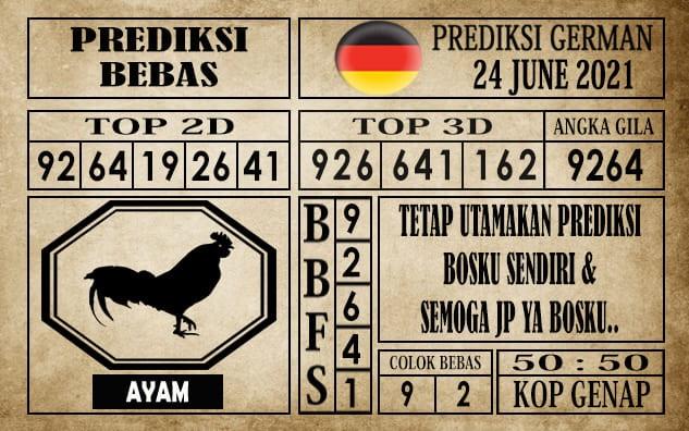 Prediksi Germany Hari Ini 24 Juni 2021