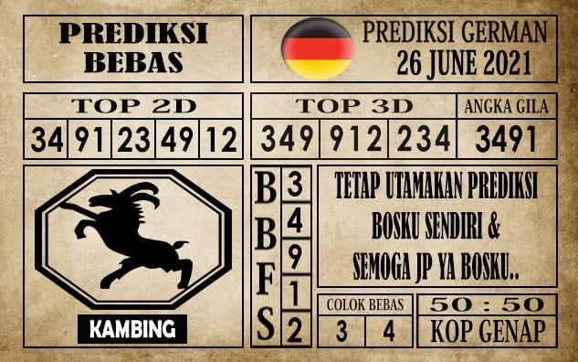 Prediksi Germany Hari Ini 26 Juni 2021