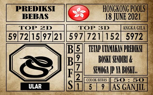 Prediksi Hongkong Pools Hari Ini 18 Juni 2021