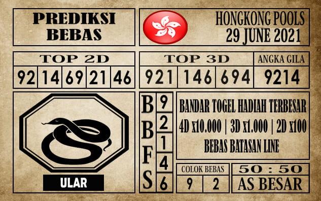 Prediksi Hongkong Pools Hari Ini 29 Juni 2021