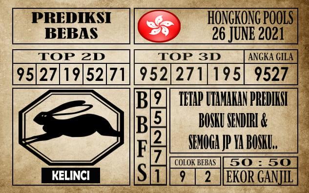 Prediksi Hongkong Pools Hari Ini 26 Juni 2021