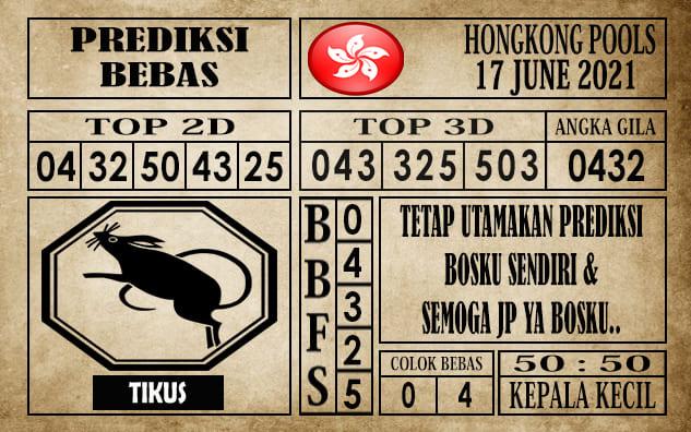 Prediksi Hongkong Pools Hari Ini 17 Juni 2021