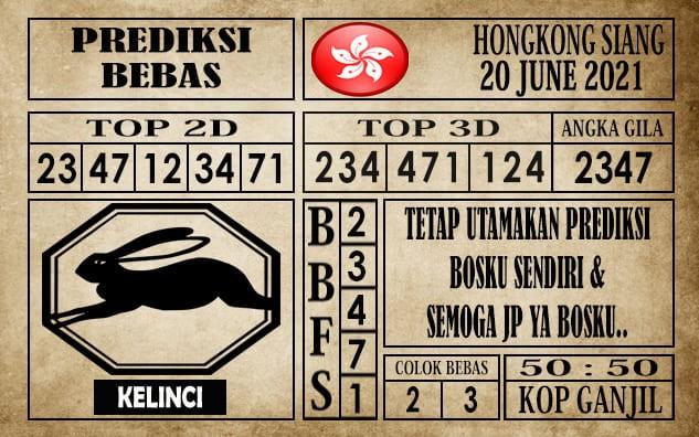 Prediksi Hongkong Siang Hari Ini 20 Juni 2021