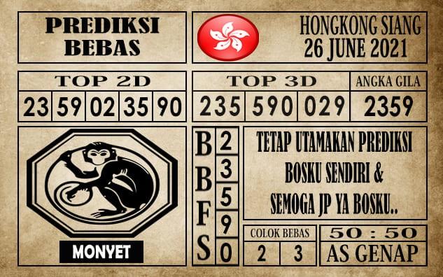 Prediksi Hongkong Siang Hari Ini 26 Juni 2021