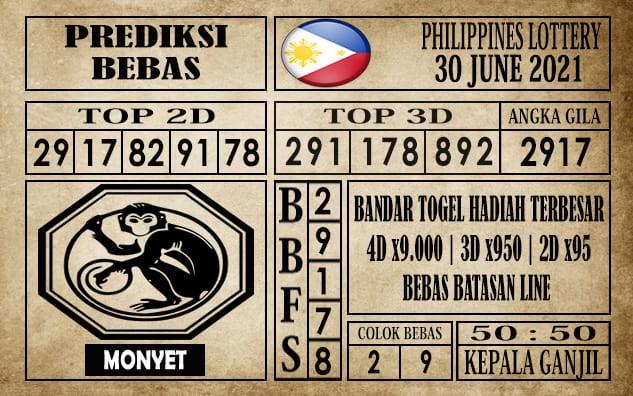 Prediksi Filipina PCSO Hari Ini 30 Juni 2021