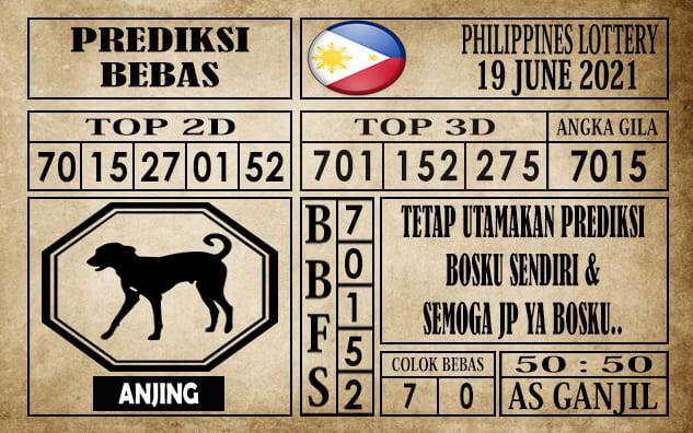Prediksi Filipina PCSO Hari Ini 19 Juni 2021