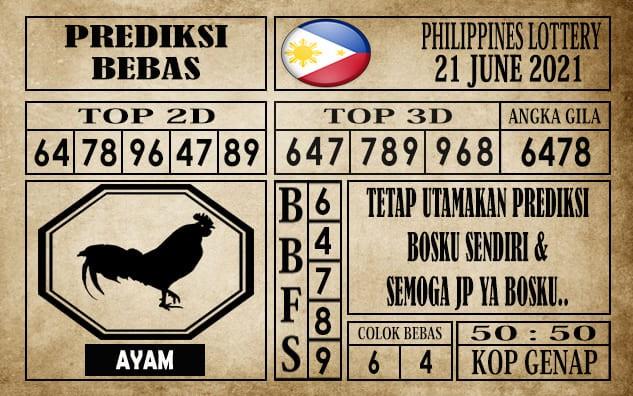 Prediksi Filipina PCSO Hari Ini 21 Juni 2021