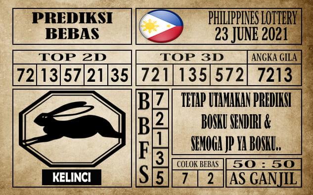 Prediksi Filipina PCSO Hari Ini 23 Juni 2021