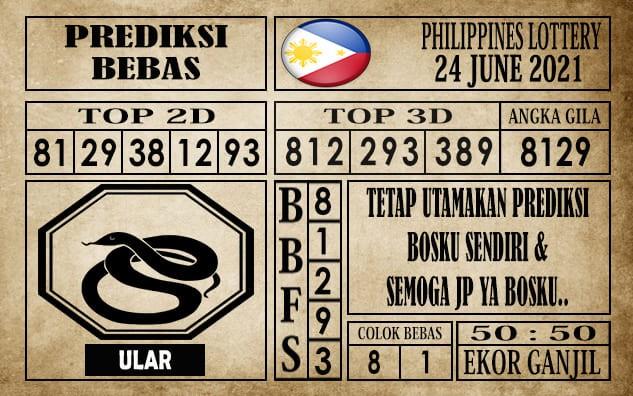 Prediksi Filipina PCSO Hari Ini 24 Juni 2021