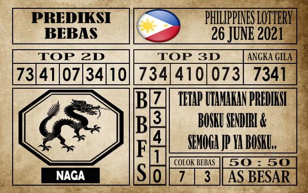 Prediksi Filipina PCSO Hari Ini 26 Juni 2021